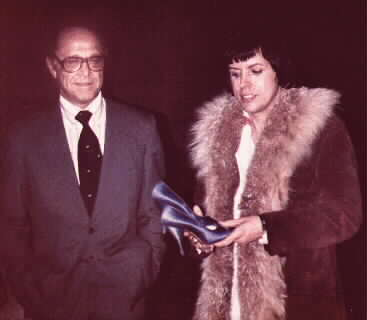SID LUFT & JUDY'S SHOES  AT JUDY AUCTION  BEVERLY HILLS, 1978