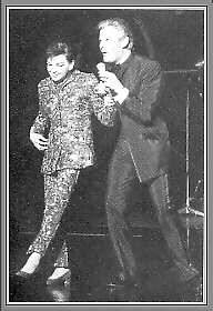 Danny La Rue with   Judy Garland at the   Talk Of The Town