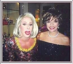 Gary Dee as Joan Rivers   with Joan Collins
