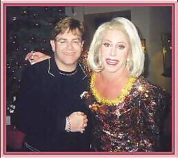 Gary Dee as Joan Rivers   with Elton John