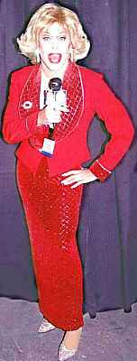Gary Dee on stage   as Joan Rivers, 2004
